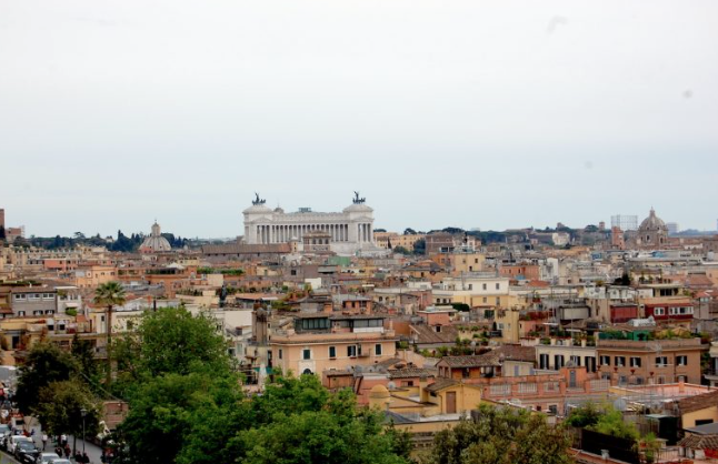 Bistrot with views in the Villa Medici (Rome)